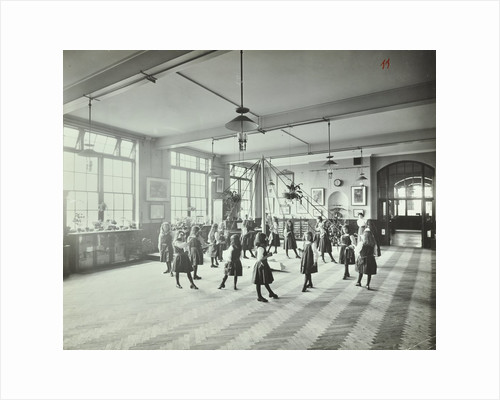 Girls dancing around a maypole, Hugon Road School, Fulham, London, 1907 by Unknown