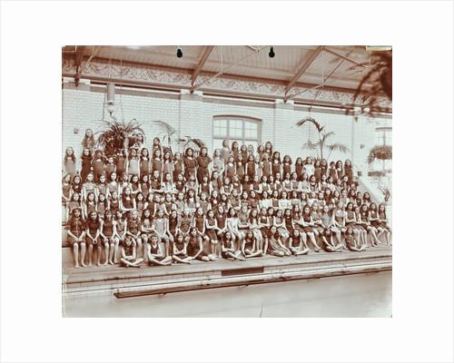Swimming class, Lavender Hill Girls School, Bermondsey, London, 1906 by Unknown