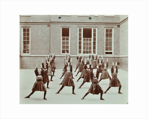 Girls' exercise drill, Montem Street School, Islington, London, 1906 by Unknown
