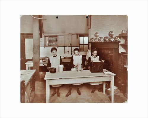 Cookery lesson, Morden Terrace School, Greenwich, London, 1908 by Unknown