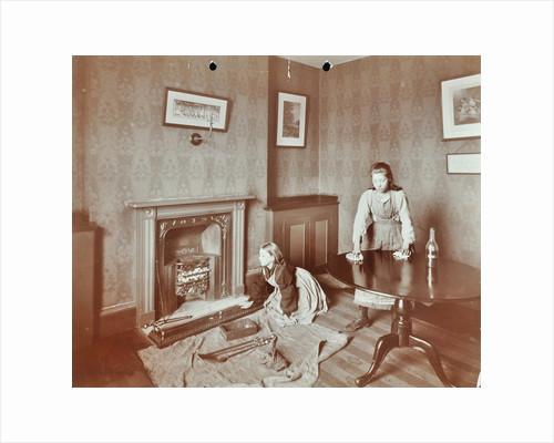 Housewifery lesson, Morden Terrace School, Greenwich, London, 1908 by Unknown