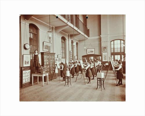 Drawing class, Myrdle Street Girls School, Stepney, London, 1908 by Unknown