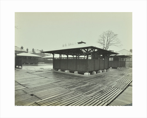 Open sided class sheds, Brent Knoll Open Air School, Forest Hill, London, 1928 by Unknown