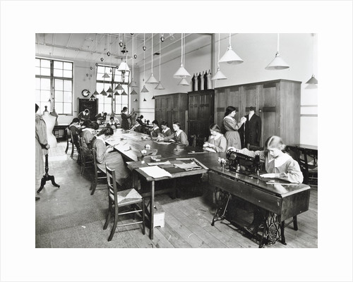 Tailoring class, Barrett Street Trade School for Girls, London, 1915 by Unknown