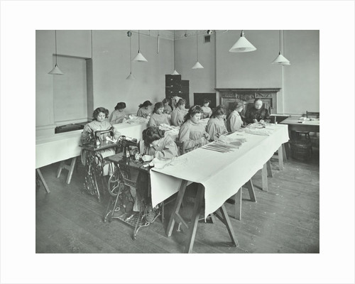 Corset making class, Bloomsbury Trade School for Girls, London, 1911 by Unknown