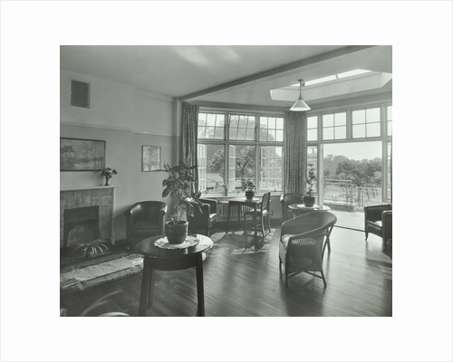 The sun lounge at Orchard House, Claybury Hospital, Woodford Bridge, London,1937 by Unknown