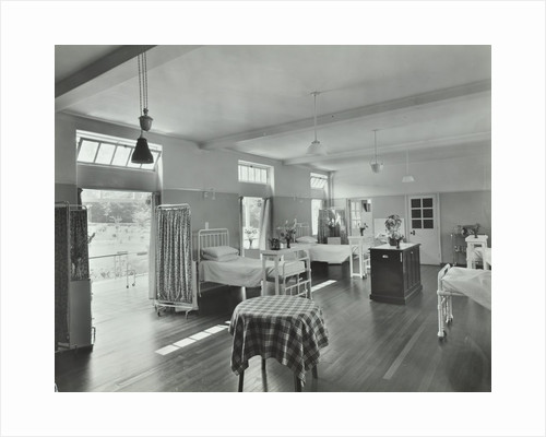 A ward at Orchard House, Claybury Hospital, Woodford Bridge, London, 1937 by Unknown