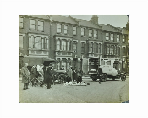 Road accident, Calabria road, Islington, London, 1925 by Unknown