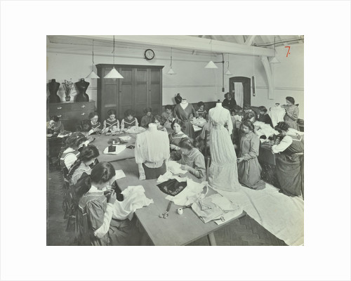 Dressmaking class, Hammersmith Trade School for Girls, London, 1911 by Unknown