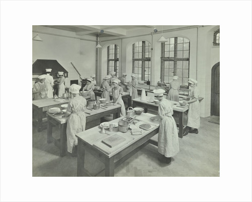 Cookery class, Hammersmith Trade School for Girls, London, 1915 by Unknown