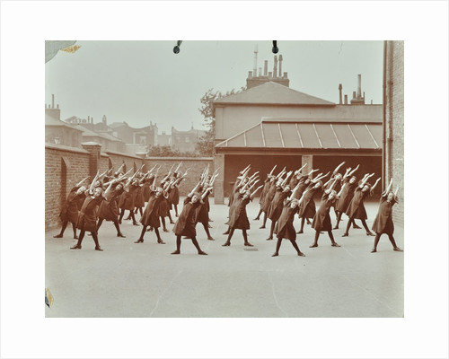 Exercise class, Buckingham Street Girls School, Islington, London, 1906 by Unknown