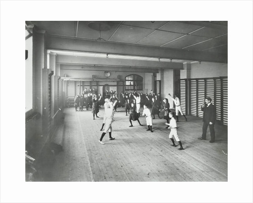 Boys and girls playing netball, Cable Street School, Stepney, London, 1908 by Unknown
