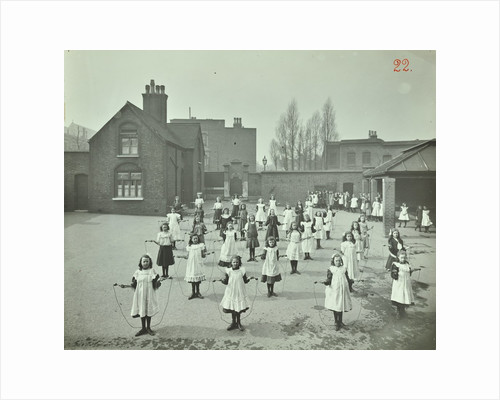 Girls skipping, Rushmore Road Girls School, Hackney, 1908 by Unknown