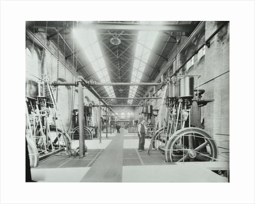 Interior of engine the house at Crossness Sewage Treatment Works, London, 1894 by Unknown