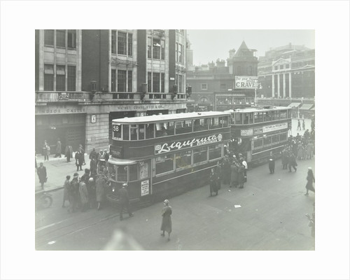 Electric trams at Victoria Terminus, London, 1932 by Unknown