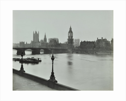 Westminster Bridge and the Palace of Westminster with Big Ben, London, 1934 by Unknown