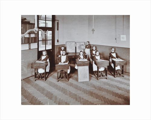 Geography lesson at Elm Lodge Residential School for Elder Blind Girls, London, 1908 by Unknown