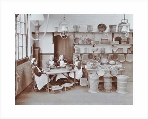 Basketry workshop at Elm Lodge Residential School for Elder Blind Girls, London, 1908 by Unknown