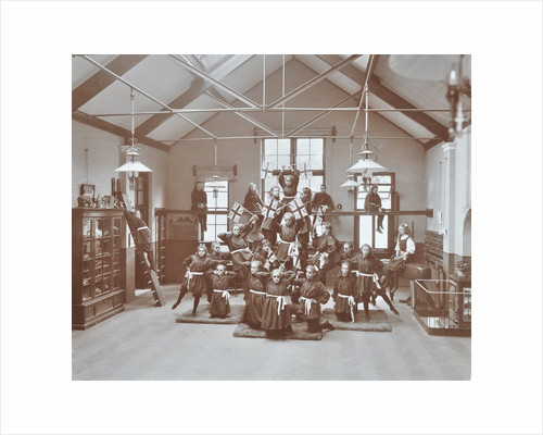 Gymnastic display at Elm Lodge Residential School for Elder Blind Girls, London, 1908 by Unknown