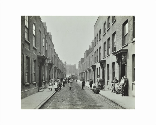 People in the street, Albury Street, Deptford, London, 1911 by Unknown