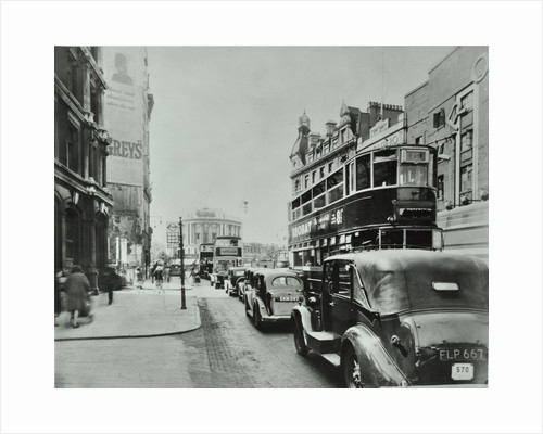 Traffic on the New Kent Road, Southwark, London, 1947 by Unknown