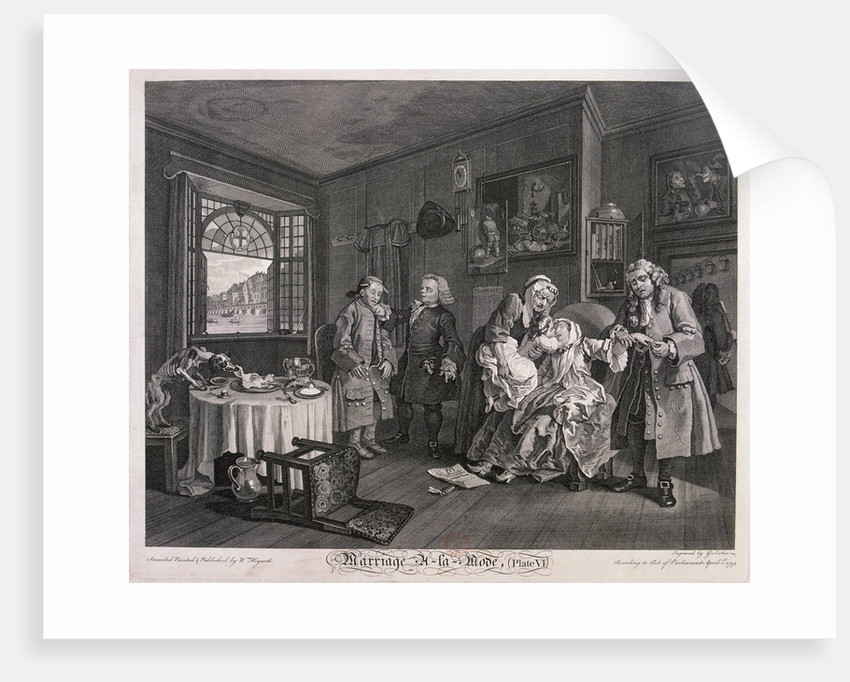 Marriage a la mode, Plate VI by Gérard Jean-Baptiste Scotin