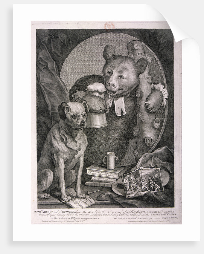 The Bruiser, C. Churchill ... in the character of a Russian Hercules ... by William Hogarth