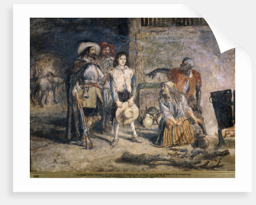 Gil Blas taken prisoner by Sir John Gilbert