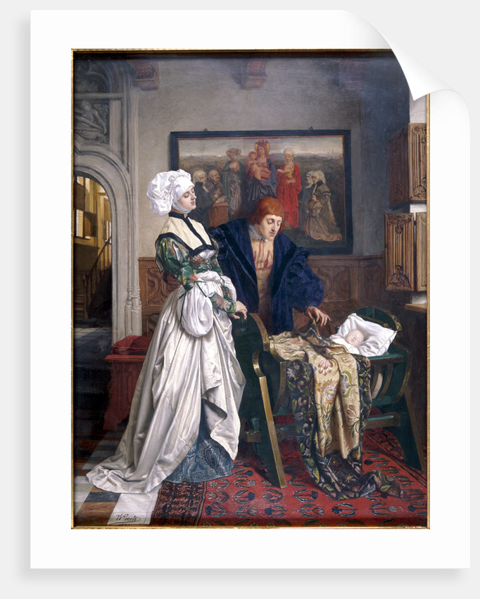 Charles V and Jeanne Vandergeynst at the Cradle of their Daughter Marguerite by Willem Geets