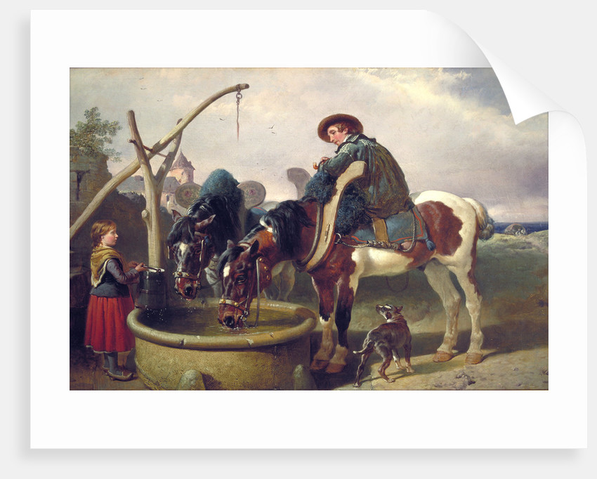 Horses at a well by