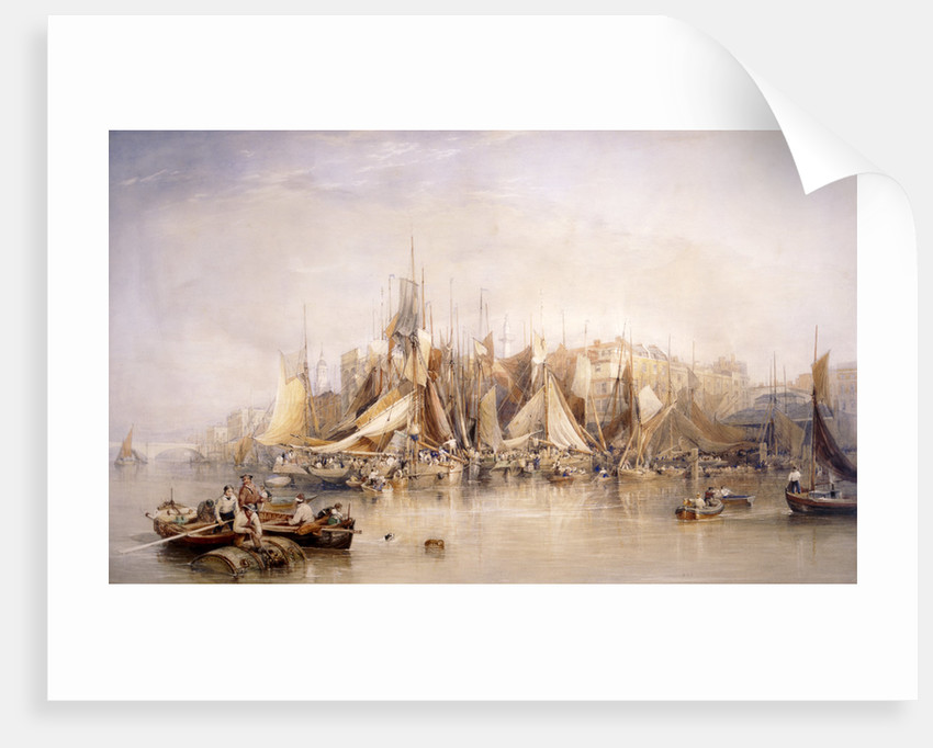 Billingsgate, First Day of Oysters, Early Morning by Edward Duncan