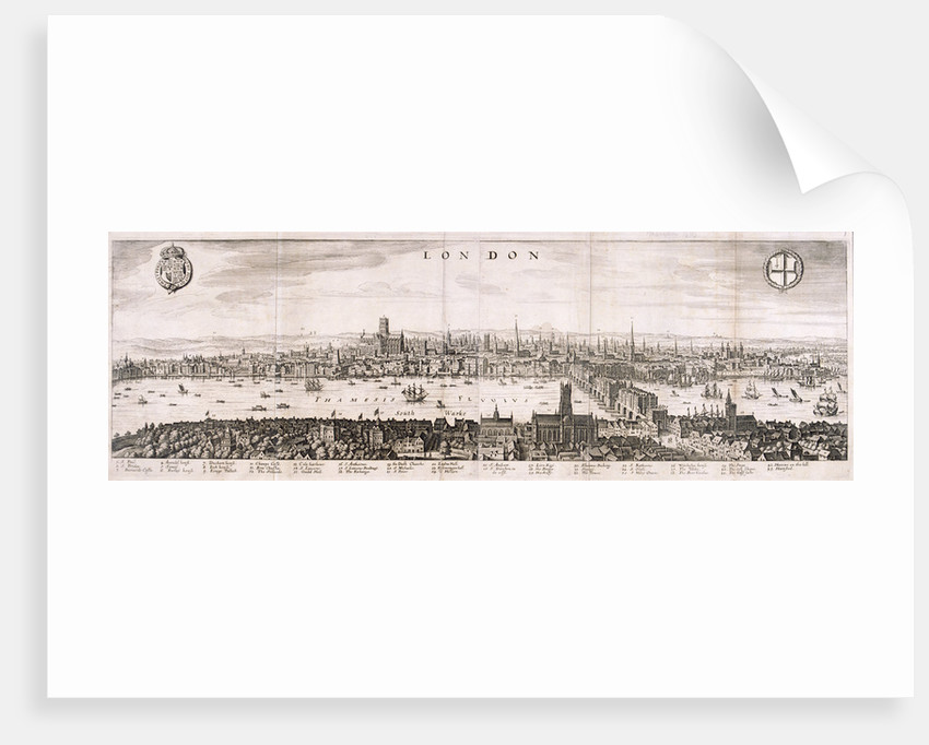View of London from the south by Anonymous