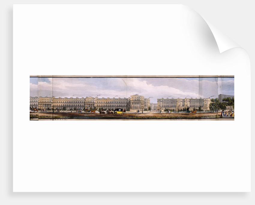 Panoramic view of the area around Regent's Park, London by Anonymous