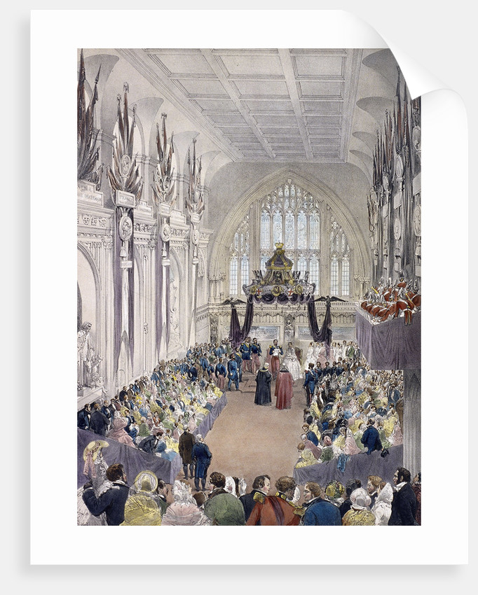 Napoleon III and Empress Eugenie at Guildhall, London by