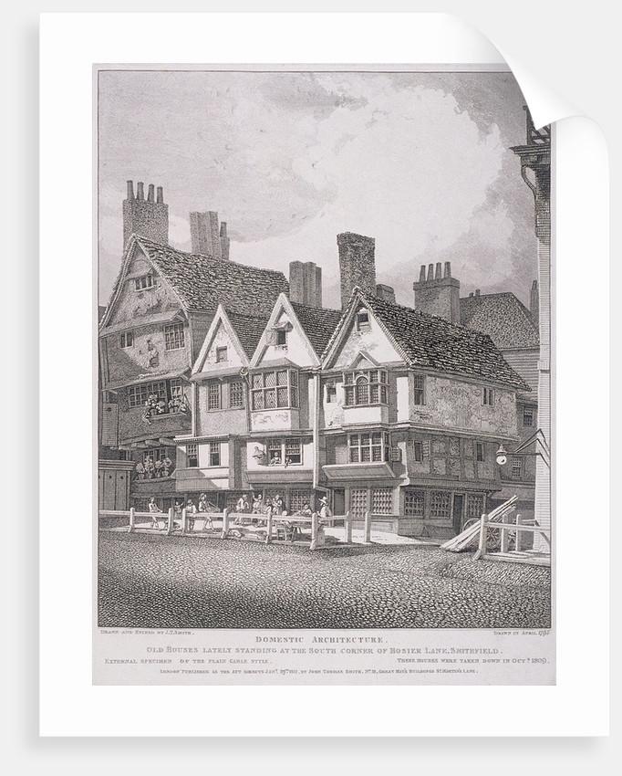 Hosier Lane, London by John Thomas Smith