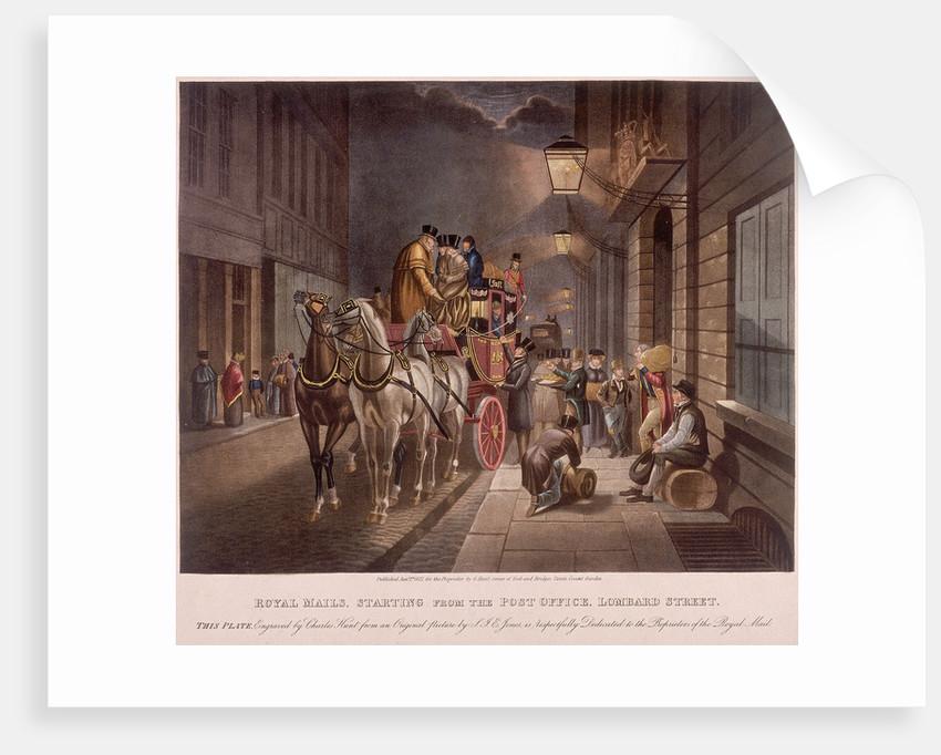 General Post Office, Lombard Street, London, 1827 by