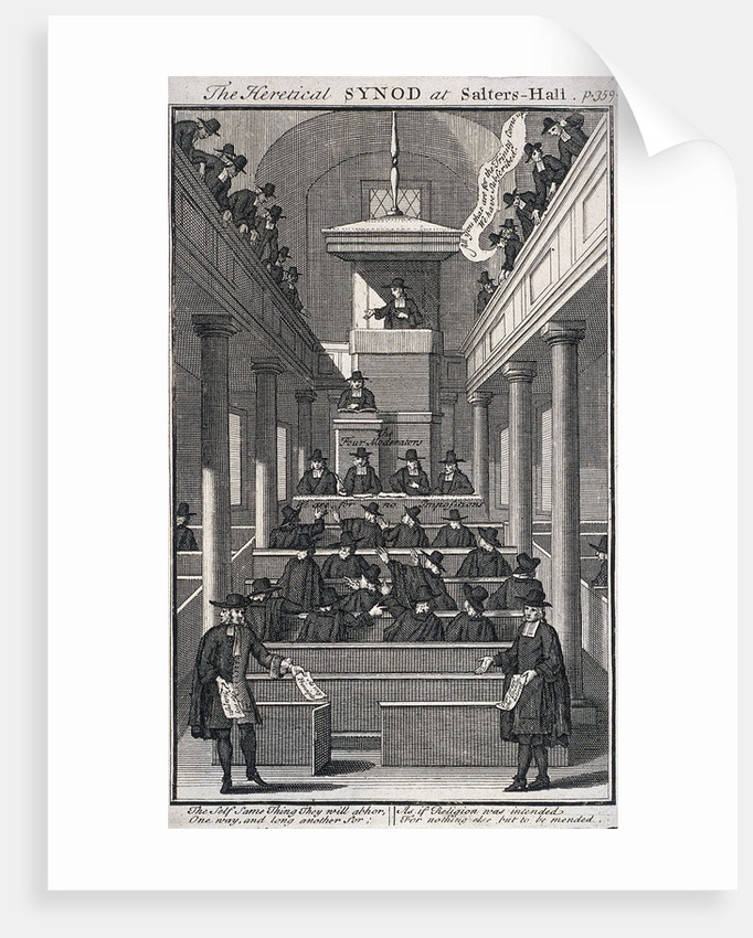 The Heretical Synod at Salters' Hall Chapel, London by Anonymous