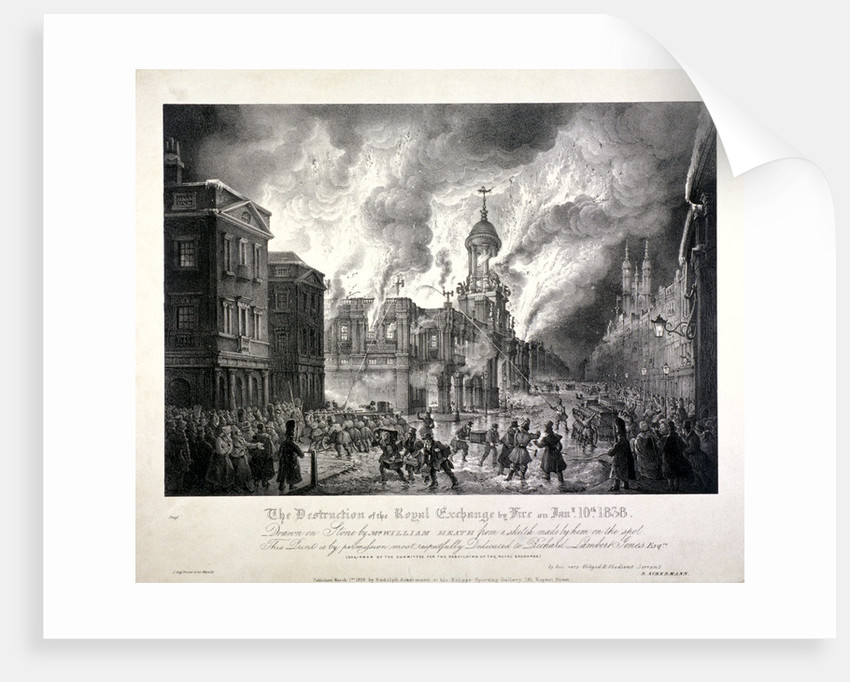 Royal Exchange (2nd) fire by
