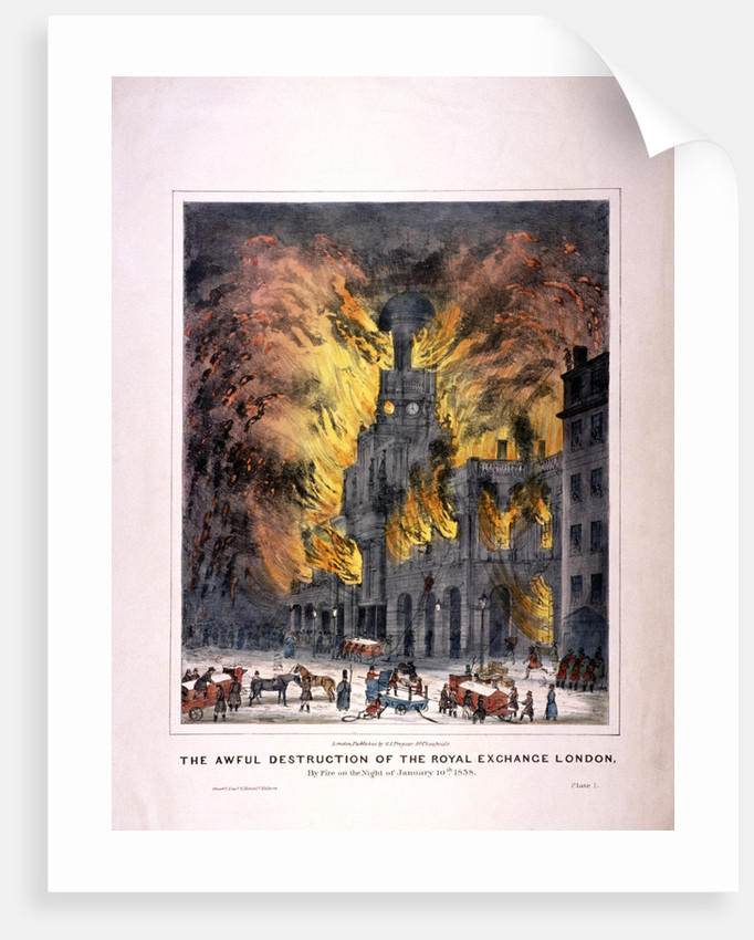 Royal Exchange (2nd) fire, London by Anonymous