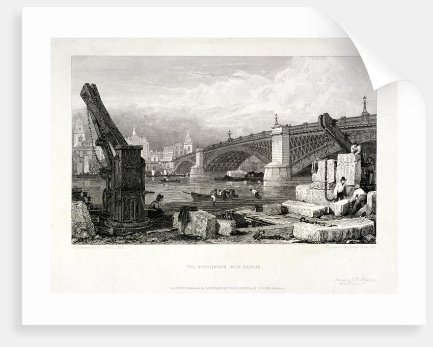 Southwark Bridge, London by Samuel Prout