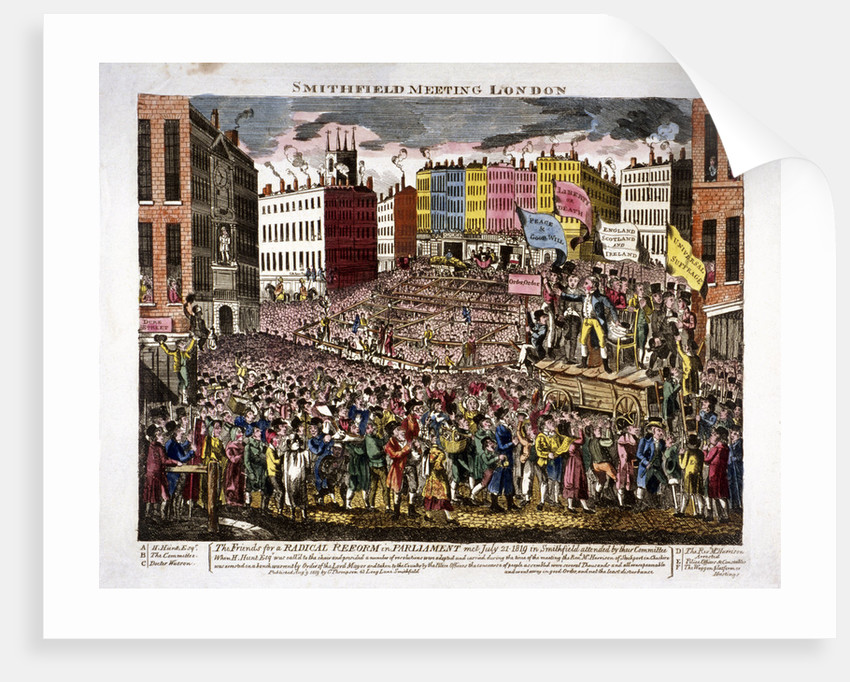 Political meeting at Smithfield, London by Anonymous