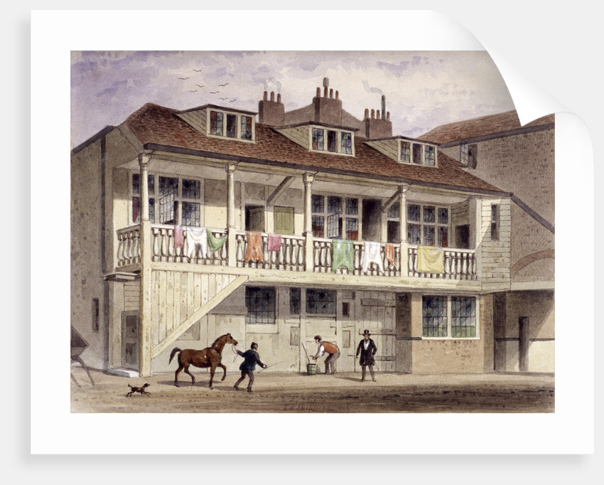 The Black Lion Inn, Whitefriars Street, London by Thomas Hosmer Shepherd