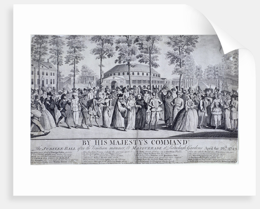 Jubilee Venetian masquerade ball in Ranelagh Gardens, Chelsea, London by Nathaniel Parr