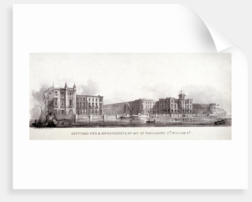Deptford Pier and the River Thames, Greenwich, London by