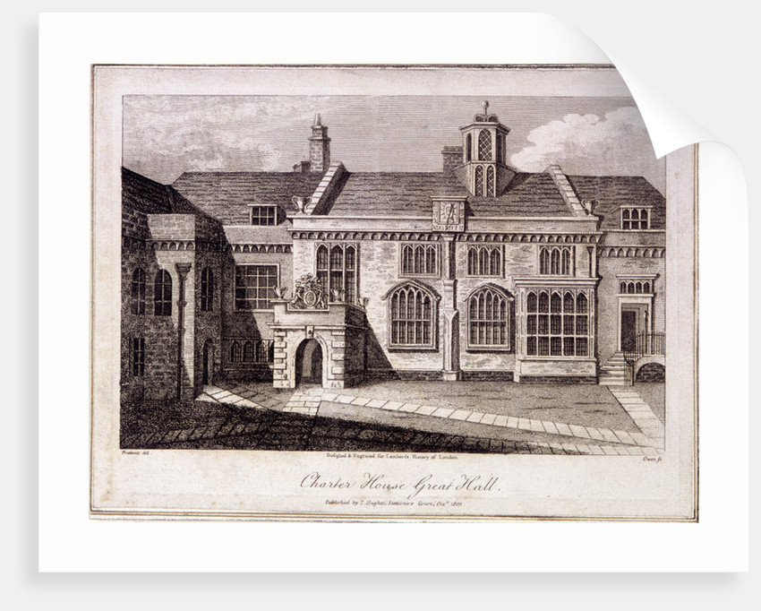 The Great Hall in Charterhouse, Finsbury, London by Samuel Owen