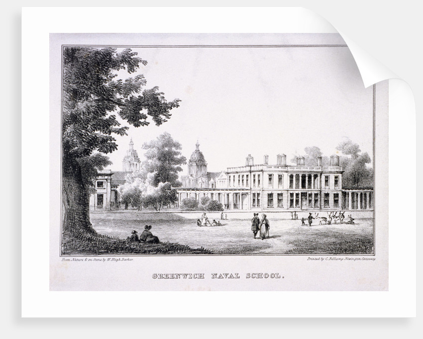 The Royal Hospital School, Greenwich, London by W Bligh Barker