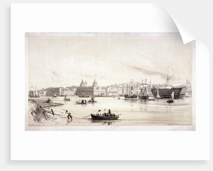 View of Greenwich across the River Thames, London by