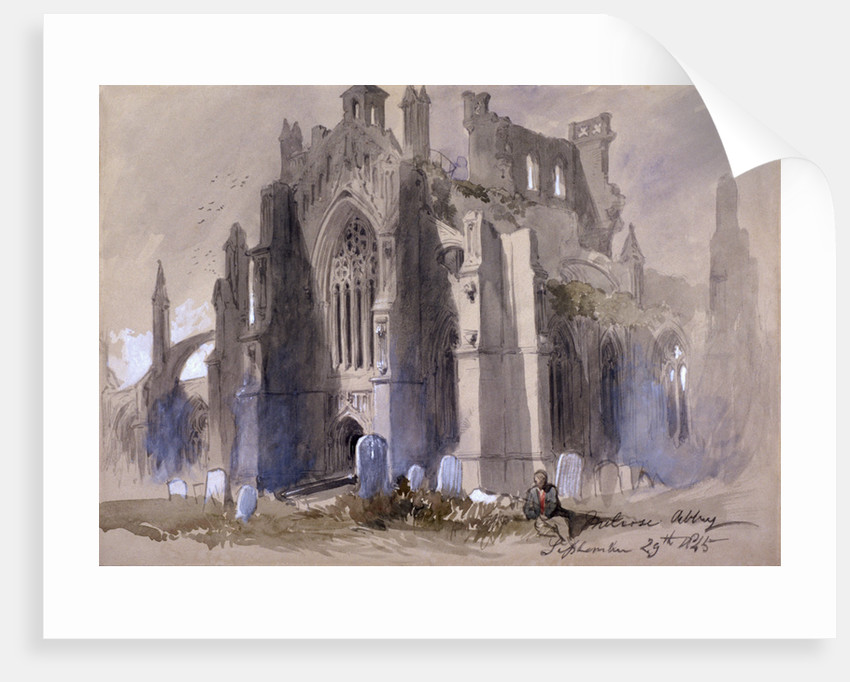 Melrose Abbey by Sir John Gilbert