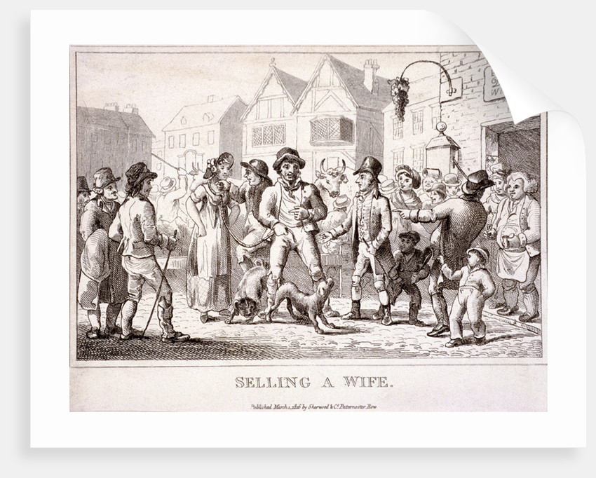 Selling a wife, Smithfield Market, London by Anonymous