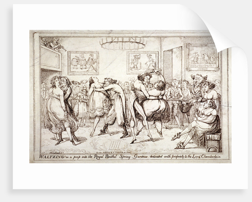Waltzing! Or a peep into the Royal Brothel, Spring Gardens, London by Isaac Robert Cruikshank